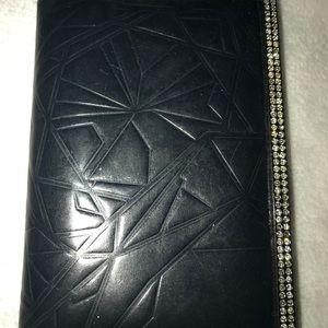 COPY - Black Leather Wallet/Card Holder Swarovski